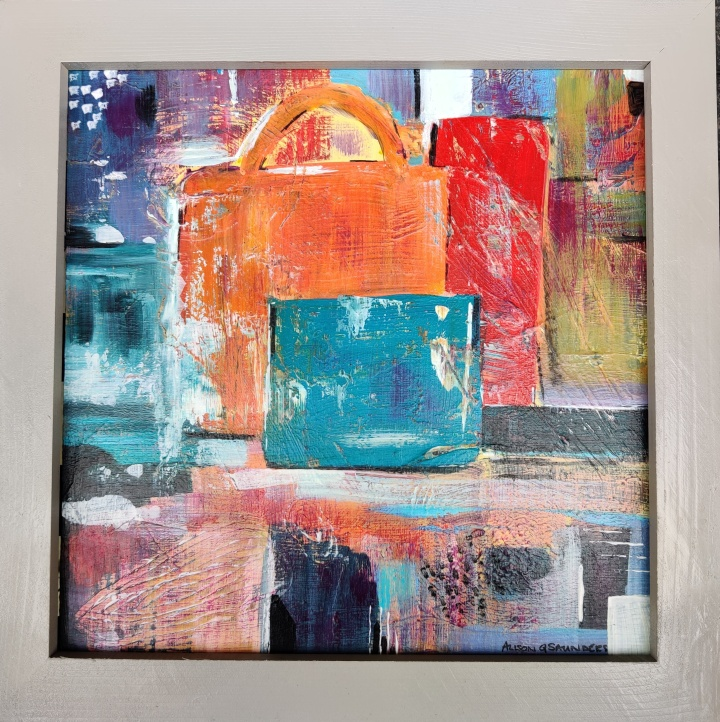 1388 Bags Orange Shopping Bag Blue 360x360mm acrylic 110gbp